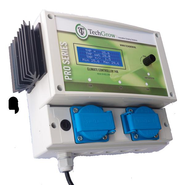 TechGrow – Clima Control 14A / inc 5m probe (EU) – Growmall growshop